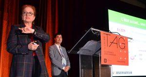 Michelle Rivard et Manuel Champagne présentent l'étude sur le commerce électronique