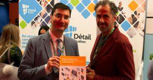 Manuel Champagne et Richard Darveau présentent l'étude sur le commerce électronique