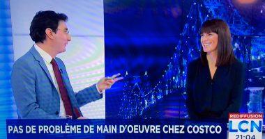 Manuel Champagne en discussion avec Julie Marcoux sur les ondes de LCN.