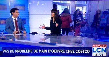 Capture d'écran des images diffusées sur les ondes de LCN vendredi dernier.